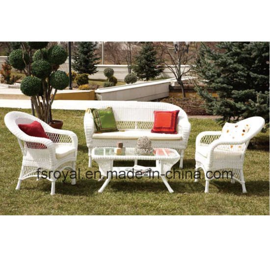e344eda5bfb Garden Wicker Furniture Outdoor Rattan Sofa Set with Cushion Rattan 2-Seat  Sofa Leisure Wicker Sofa Patio Furniture Sofa