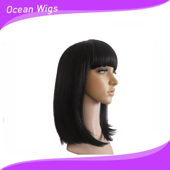 Silky Straight Synthetic Wig with Hair Bang pictures & photos