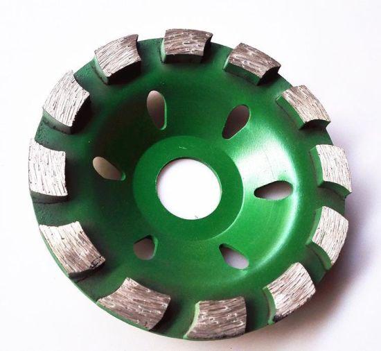 7 Inch Diamond Double Row Grinding cup wheel 28 segment concrete stone 4 Piece
