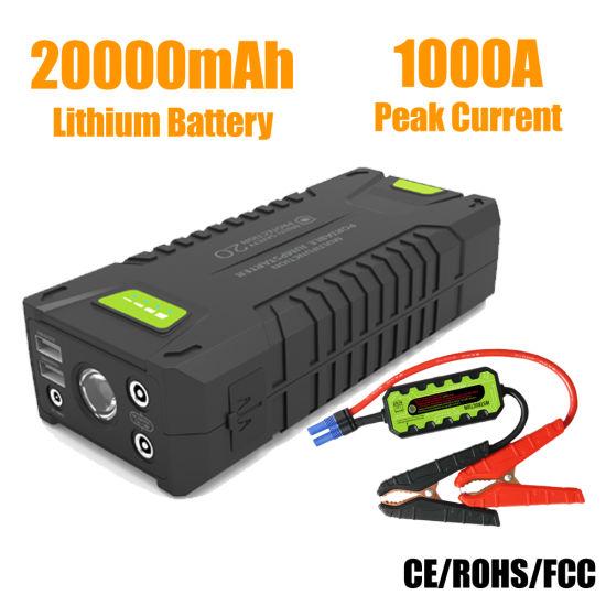 China 20000mah 1000a Car Battery Booster Portable Jump Starter For Gasoline Diesel China Portable Jump Starter Mini Jump Starter