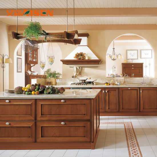 Amazing Wood Ceiling New American Style Solid Wood Kitchen Cabinet Set Beutiful Home Inspiration Xortanetmahrainfo