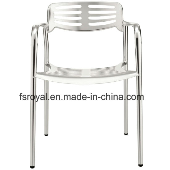 Morden Home Hotel Restaurant Outdoor Garden Dining Furniture Anodized Stacking Toledo Chair