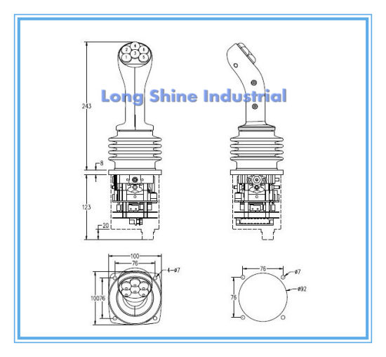 China Ls02 Series of Industrial Control Lever Joystick