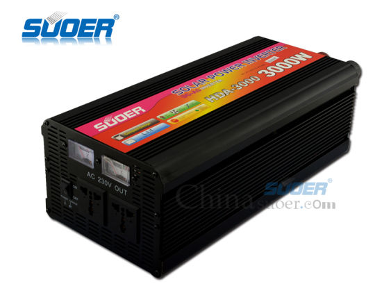 Suoer 3000W 12V off Grid Auto Power Inverter with Charger (HDA-3000C) pictures & photos