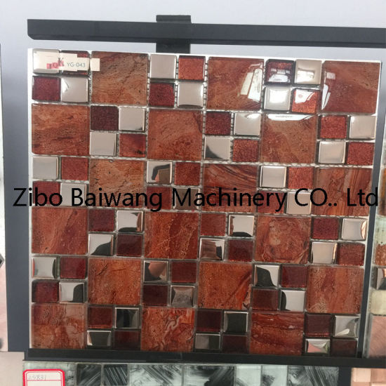 White and Red Glass Mosaic Tile for Kitchen Wall Tile