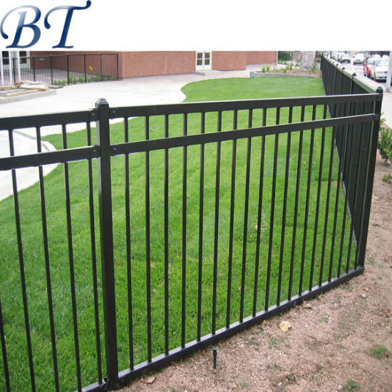 4 Foot Black Aluminum Garden Fence