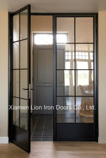 China Grill Design Custom Steel Doors Wrought Iron Entry Door