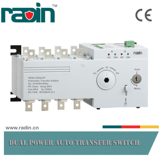 250A 3p/4p New Designed Automatic Transfer Switch, ATS (RDS2) pictures & photos