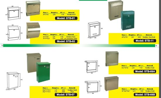 Wall Mount Plastic Mailboxes with More Colors pictures & photos
