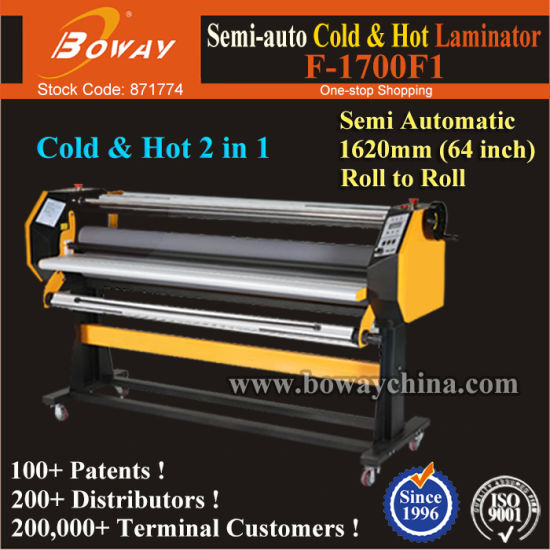 Semi-Auto 162cm/63.7 Inch/1620mm Cold & Hot Roll Film Paper Laminator Laminating Lamination Machine