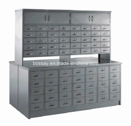 Double Face Chinese Herb Medical Cabinet