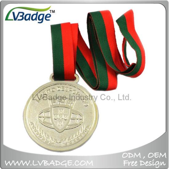 High Quality Lanyard Metal Medal for Souvenir Gift