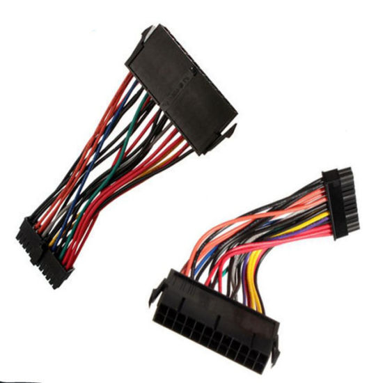 china black atx 24pin to mini 24pin power adapter converter wire ididit wiring harness black atx 24pin to mini 24pin power adapter converter wire harness for computer