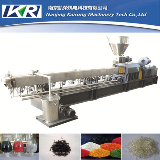 Nanjing Twin Screw Extruder Machine for Plastic Waste, Auto Rubber and Plastic Granule Making Machine