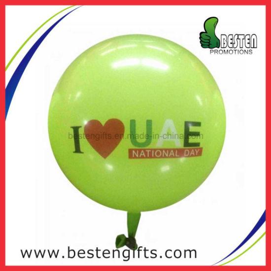 High Quality I Love UAE Round Shape Full Color Printing Helium Latex Balloon