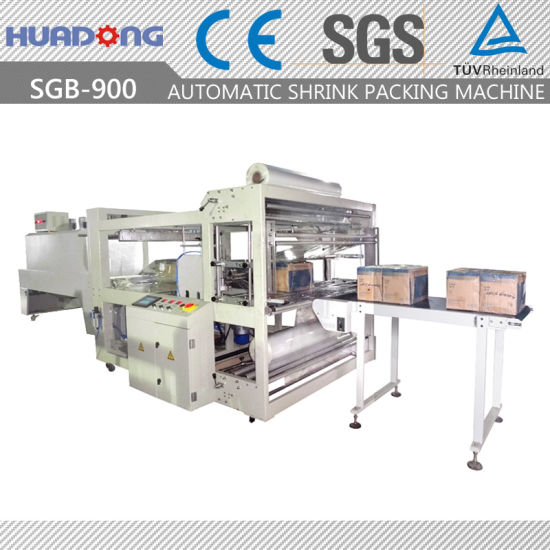 Automatic Doors Full Close Shrink Wrapping Machine with Ce Approved