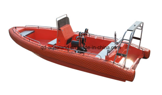 Aqualand 26feet 8m EVA Solid Foam Fender Sponson Non-Air Filled Tube Rigid Motor Rescue Patrol Military Rib Boat (rib800b) pictures & photos