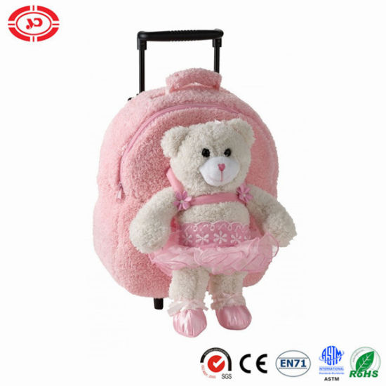 Teddy Bear Pink Trolley Bag Infant Toddler Girl Suitcase pictures & photos