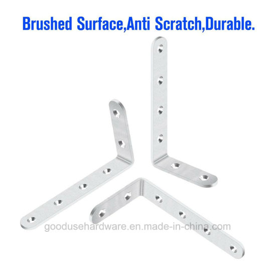 Corner Brace 3 X 5 Inch Corner Brackets Stainless Steel with Screws Right  Angle Shelf L Shaped Brackets for Furniture Shelves