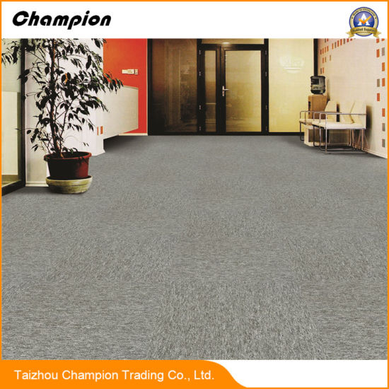 Dl Eco Friendly Adhesive Commercial Usage Office Floor Carpet Tile 50x50