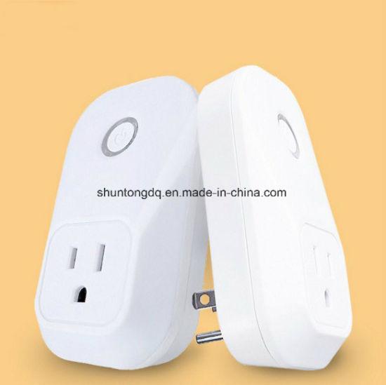 Remote Control 10A Us/EU/UK Standard WiFi Smart Power Plug for Amazon Alexa Echo