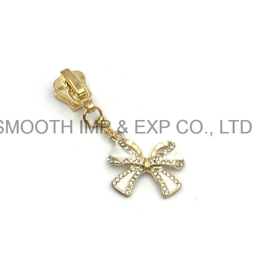 Fashion Metal Pearl Diamond Rhinestone Zipper Puller Slider Garment Accessories pictures & photos