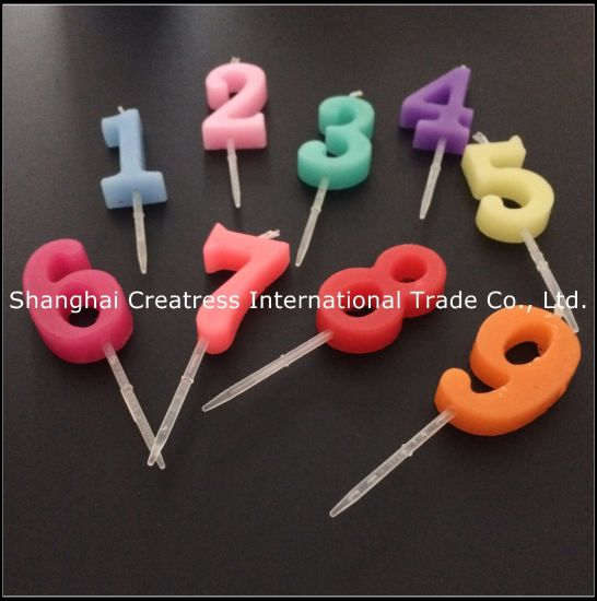 Bright Luster Different Colors Number Birthday Candles Suppliers For Sale Pictures Photos