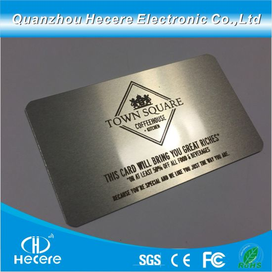 df1d3496 China Plastics Products Metal Business Card with Custom Company Logo ...
