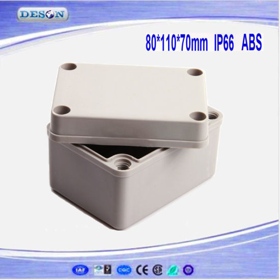 Solid Cover IP66 ABS/PC Waterproof Box 80X110X70mm