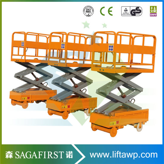 3m 4m Electric Mobile Mini Scissor Lift pictures & photos