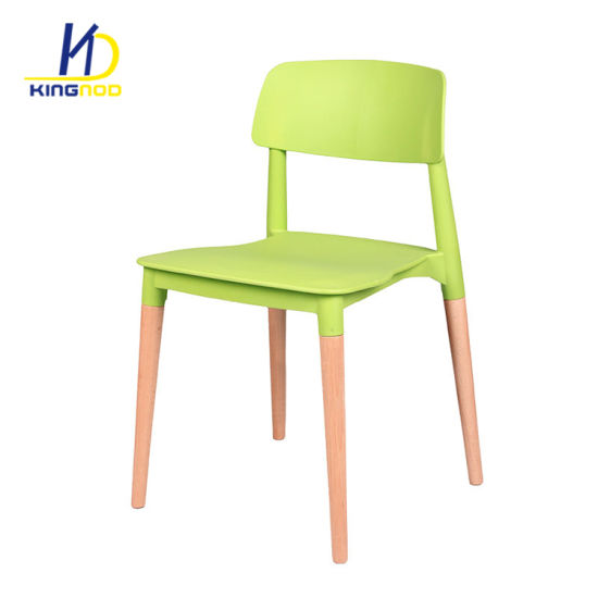 Hot Sales Wood Legs Plastic Seat Outdoor Restaurant Chairs pictures & photos