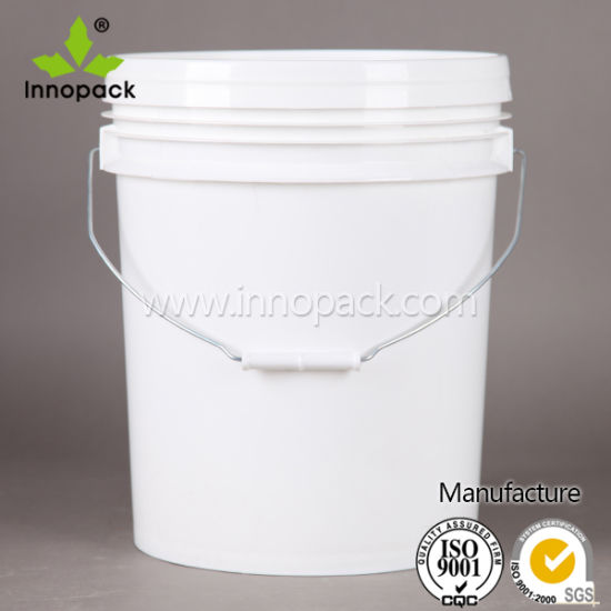 China Food Grade Pp 5 Gallon Plastic Pail Plastic Bucket With Handle