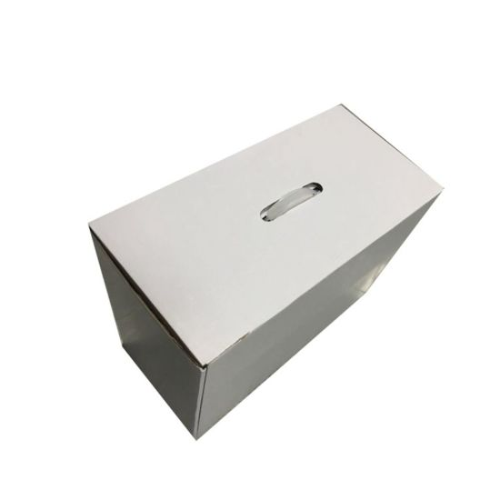 Plain Corrugated Shipping and Packing Box with Plastic Handle pictures & photos