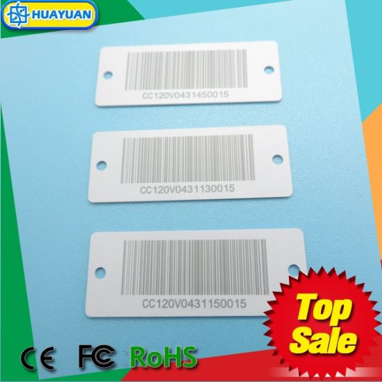 Supermarket loyalty plastic Key Tag with barcode for promotion pictures & photos