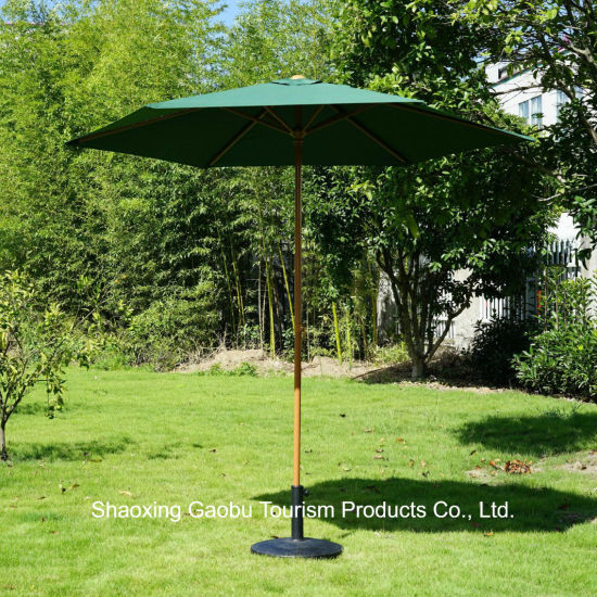 Push up Open Garden Umbrella Like Wooden Finish pictures & photos