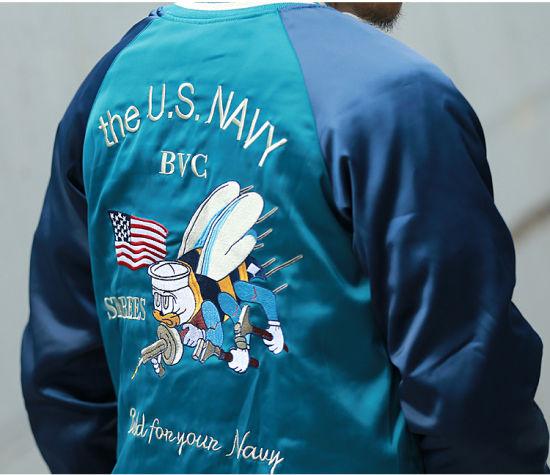 e1824957d Custom Fashion Embroidered Reversible Souvenir Satin Bomber Jackets  Wholesale