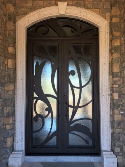 Exterior Nice Contemporary Wrought Iron Doors Design