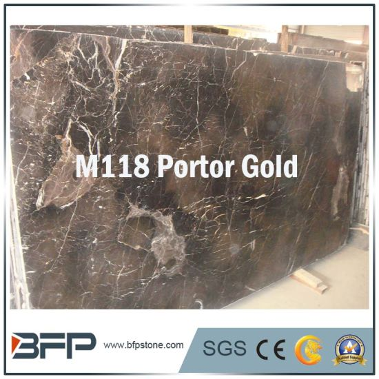 Portor Gold Color Marble Floor Tile/Wall Tile/Slab/Kitchen Top/Vanity pictures & photos