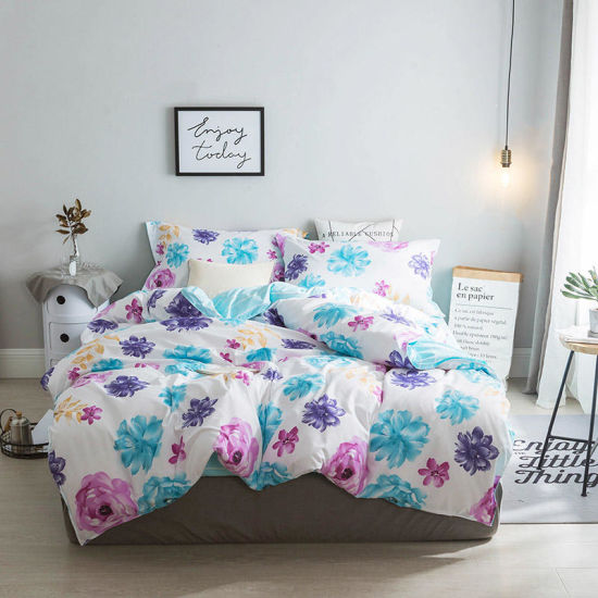 Cheap Price Microfiber Polyester Bed Cover Bedsheets Bedding Set