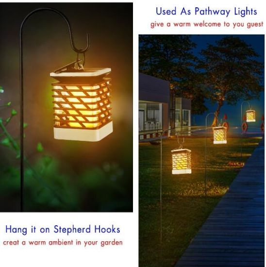 Solar Ed Flame Led Lantern Light