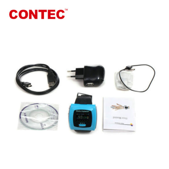 Contec Cms50fw Finger Colordisplay Pulse Oximeter with Bluetooth and Software Connect with PC and Smart Phone