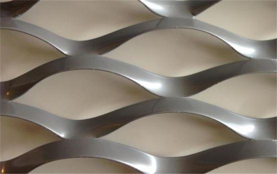 Tec-Sieve Raised Expanded Aluminium Metal Mesh Facades in Mill Finish