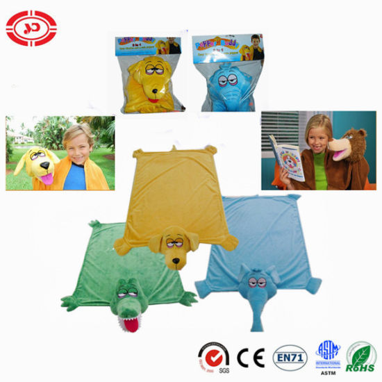 Baby Hand Puppet Plush Toy for Best Gift Play Blanket