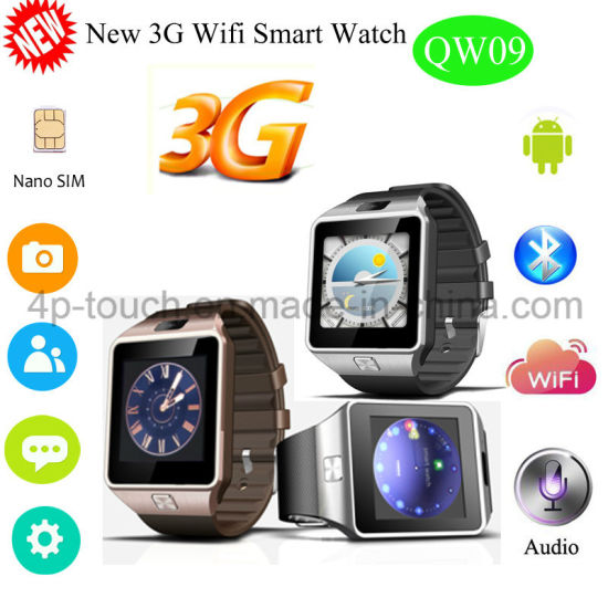 c9d022b9618 China New 3G WiFi Smart Watch with Bluetooth 4.0 (QW09) - China ...