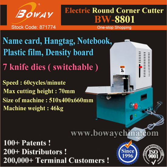 Electric Notebook Corner Round Rounder Rounding Cutting Cutter Machine pictures & photos