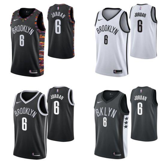2019 N-B-a Draft Brooklyn Nets 6 Deandre Jordan Basketball Jerseys
