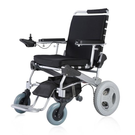 12 Inch Lightweight Medical Disabled Brushlesss Foldable Electric Power Wheelchair pictures & photos
