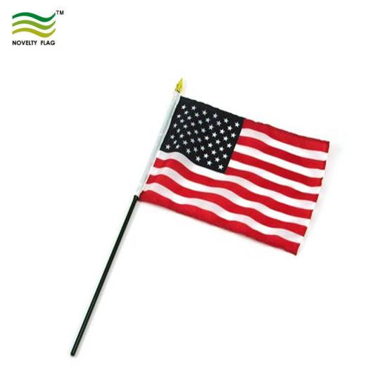 "X 5 24/""WOOD STICK UNION JACK HAND WAVING FLAG 18/""X12/"""