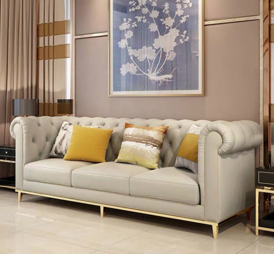 Black Brown Beige Lounge Sofa for Office Hospital Hotel Lobby