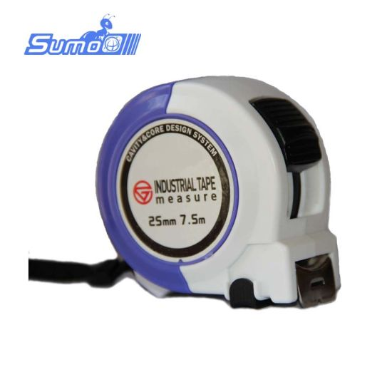5m Colorful ABS Case Alloy Shaft Tape Measure with Nylon Coated Double Printing Blade
